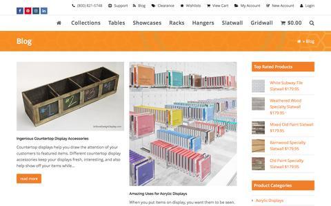 Screenshot of Blog instoredesigndisplay.com - Blog - InStore Design Display - captured Aug. 29, 2016