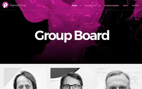 Screenshot of Team Page paperhatgroup.com - Paperhat Group :: Board - captured July 15, 2018