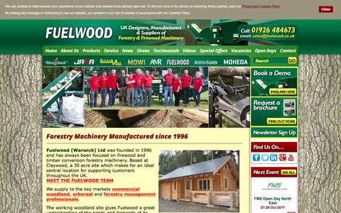 Screenshot of About Page fuelwood.co.uk - Forestry Machinery Manufactured since 1996 - captured Oct. 14, 2017
