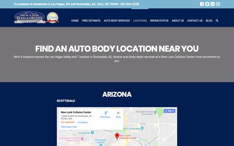 Screenshot of Locations Page newlookcollision.com - Find a New Look Collision Auto Body Shop Near You - captured Dec. 18, 2018