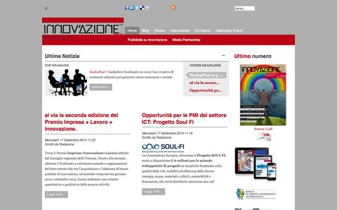 Screenshot of Home Page lobbyinnovazione.it - Innovazione - Start up Impresa - Business Angel - captured Oct. 2, 2014