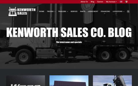 Screenshot of Blog kenworthsalesco.com - Kenworth Sales Company Blog - Kenworth Sales Company - captured Oct. 15, 2018
