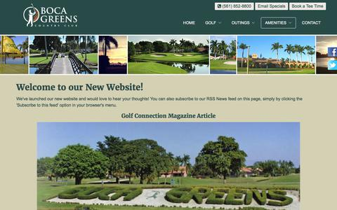 Screenshot of Press Page bocagreenscountryclub.com - Boca Greens Country Club | Public Championship Florida Golf Course - Boca News - captured June 2, 2017