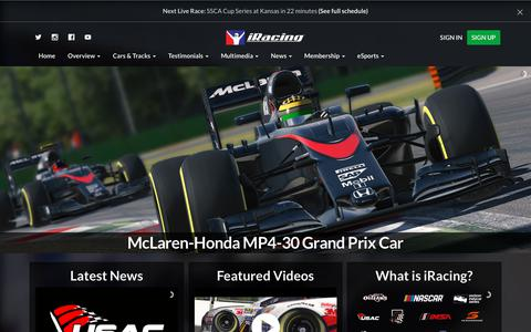 Screenshot of Home Page iracing.com - Home - iRacing.com | iRacing.com Motorsport Simulations - captured Sept. 21, 2018