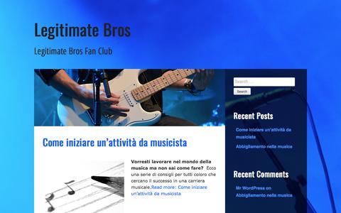 Screenshot of Home Page legitimatebros.com - Legitimate Bros – Legitimate Bros Fan Club - captured March 8, 2017