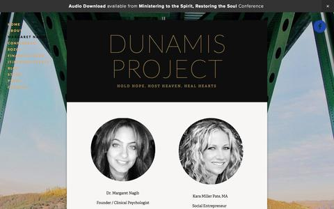 Screenshot of Team Page thedunamisproject.org - Margaret Nagib — DUNAMIS PROJECT - captured Feb. 24, 2016