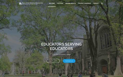 Screenshot of Home Page eseserves.org - WELCOME - ESE - Educators Serving Educators - captured June 18, 2015