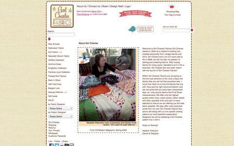 Screenshot of About Page girlcharlee.com - About Girl Charlee - Girl Charlee - captured Sept. 19, 2014