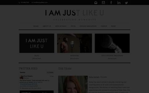 Screenshot of Team Page iamjustlikeu.com - The Team - I am Just Like U - captured Sept. 30, 2014