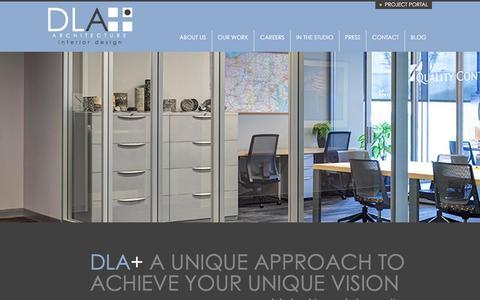 Screenshot of Home Page dlaplus.com - DLA+ Architecture & Interior Design - captured Dec. 11, 2015