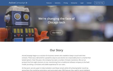 Screenshot of About Page activecampaign.com - About ActiveCampaign - Email Marketing Company - captured Sept. 9, 2017