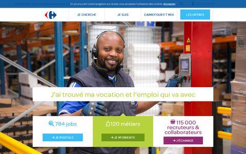 Screenshot of carrefour.fr - Carrefour Recrute, le site emploi France de toutes les enseignes - captured Oct. 3, 2015