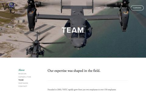 Screenshot of Team Page vatcinc.com - Team Ń VATC - captured Jan. 16, 2016