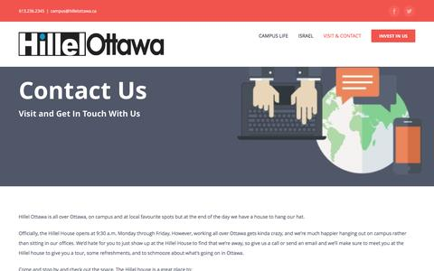 Screenshot of Contact Page hillelottawa.ca - Contact • Hillel Ottawa - captured May 19, 2017