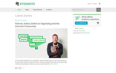 Screenshot of Blog evernote.com - Evernote Blog - Remember Everything. - captured July 14, 2017
