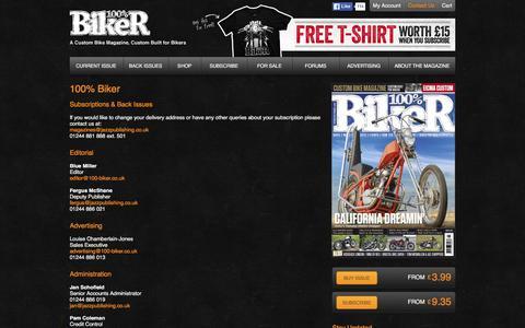 Screenshot of Contact Page 100-biker.com - 100% Biker   100% Biker - captured March 6, 2016