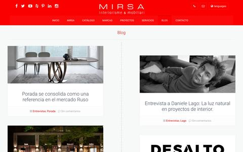 Screenshot of Blog mirsa.es - Blog | MIRSA interiorismo & mobiliario - captured Oct. 18, 2018