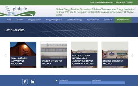 Screenshot of Case Studies Page globeleenergy.com - Case Studies – Globele Energy - captured Aug. 16, 2017