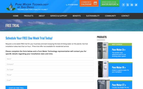 Screenshot of Trial Page purewatertechsandiego.com - Free Trial - Pure Water Technology San DiegoPure Water Technology San Diego - captured Feb. 2, 2016