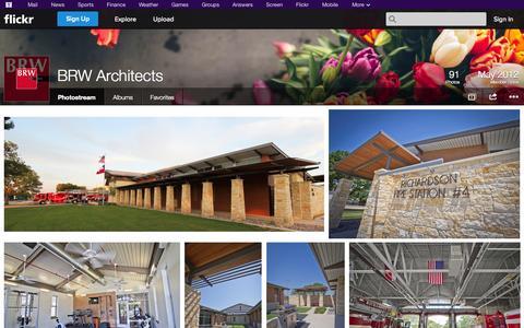 Screenshot of Flickr Page flickr.com - Flickr: BRW Architects' Photostream - captured Nov. 2, 2014