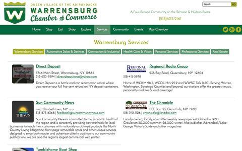 Screenshot of Services Page warrensburgchamber.com - Warrensburg Services : Warrensburg Chamber Of Commerce - captured April 24, 2017