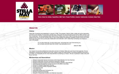 Screenshot of About Page stellamay.com - Stella May Contracting, Inc. - captured Oct. 7, 2014