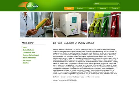 Screenshot of Home Page Privacy Page gofuels.co.uk - Go Fuels - suppliers of quality biofuels - captured Oct. 2, 2014