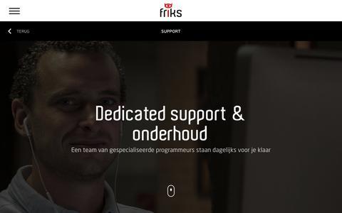 Screenshot of Support Page friks.nl - Support | Friks support biedt ondersteuning aan website en webshops - captured Jan. 26, 2018