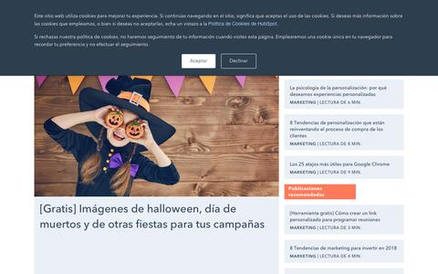 Screenshot of Blog hubspot.es - Marketing - captured Nov. 9, 2018