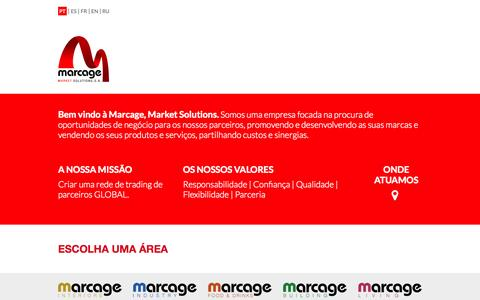 Screenshot of Home Page marcage.com - Marcage   Market Solutions - captured Oct. 6, 2014