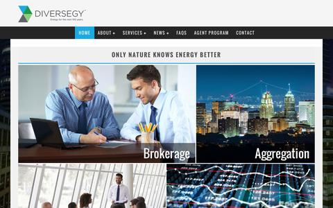 Screenshot of Home Page diversegy.com - Diversegy | Energy Management | Advisory Services | Procurement - captured Aug. 2, 2016