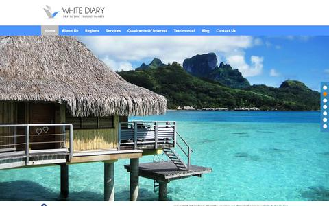 Screenshot of Home Page travelconsultant.co.in - White Diary | Travel Consultant | Travel Consultant in Vadodara - captured Oct. 7, 2014