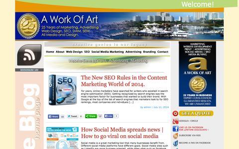 Screenshot of Blog awoa.com - Web Design Blogs, SEO Blogs, Social Media Marketing Blogs in Fort Lauderdale, Florida | AWOA.com - captured Oct. 1, 2014