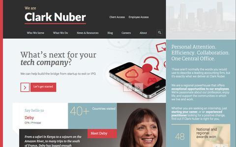 Screenshot of Home Page clarknuber.com captured Sept. 29, 2014