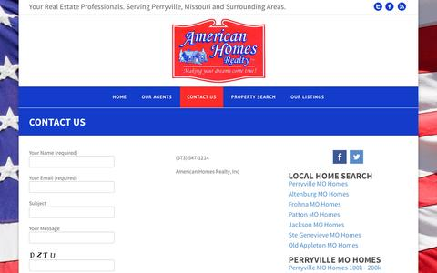 Screenshot of Contact Page ahreal.com - Contact Us |  | Real Estate Agent | Perryville, MO Homes For Sale - captured Feb. 6, 2016