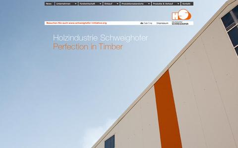 Screenshot of Menu Page schweighofer.at - Holzindustrie Schweighofer: Schweighofer - captured Feb. 2, 2016