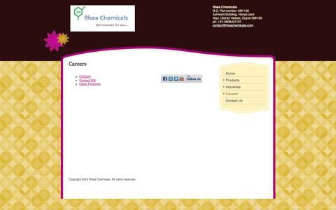 Screenshot of Jobs Page rheachemicals.com - Rhea Chemicals - Careers - captured Jan. 11, 2016