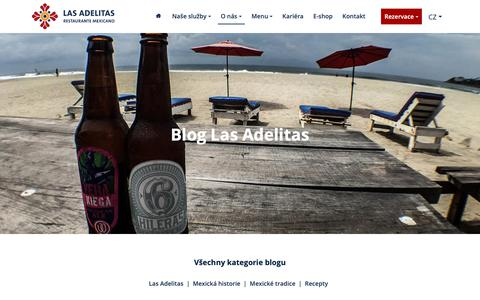 Screenshot of Blog lasadelitas.cz - Blog | Las Adelitas - captured Nov. 4, 2018