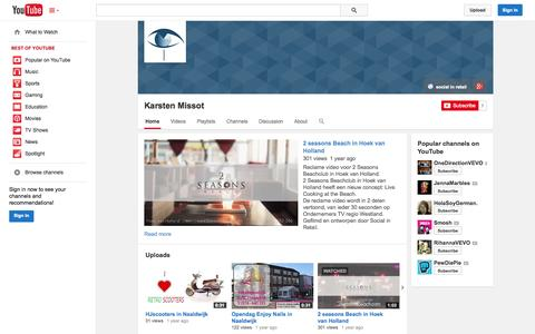 Screenshot of YouTube Page youtube.com - Karsten Missot  - YouTube - captured Oct. 26, 2014