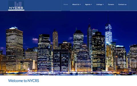 Screenshot of Home Page nycrs.com - NYCRS | New York Commercial Real Estate Services | New York Commercial Real Estate Services - captured Aug. 14, 2015