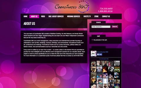 Screenshot of About Page coordinated360.com - About Us »  Coordinated 360 - captured Sept. 30, 2014