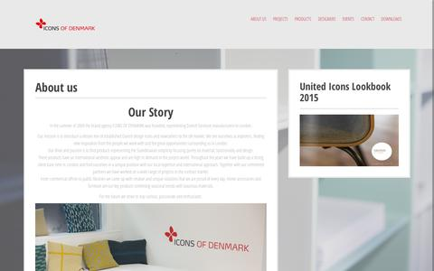Screenshot of About Page iconsofdenmark.dk - About us - iconsofdenmark - captured Feb. 10, 2016