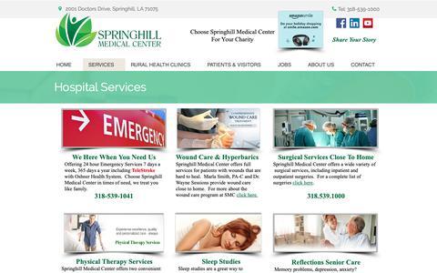 Screenshot of Services Page smccare.com - SMC Services - captured Nov. 16, 2018