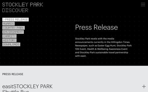 Screenshot of Press Page stockleypark.co.uk - Press Release | Stockley Park - captured Oct. 20, 2018