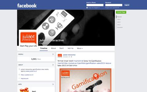 Screenshot of Facebook Page facebook.com - Juloot interactive | Facebook - captured Oct. 23, 2014