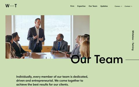 Screenshot of Team Page wt.ca - Our Team - Whitelaw Twining - captured Nov. 16, 2018