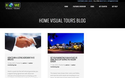 Screenshot of Blog gohvt.com - Home Visual Tours™ – Complete Property Marketing Campaigns   Ideas for marketing individual properties - captured Oct. 2, 2014