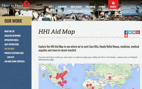 Screenshot of Maps & Directions Page hearttoheart.org - HHI Aid Map | Heart to Heart International - captured Oct. 2, 2014