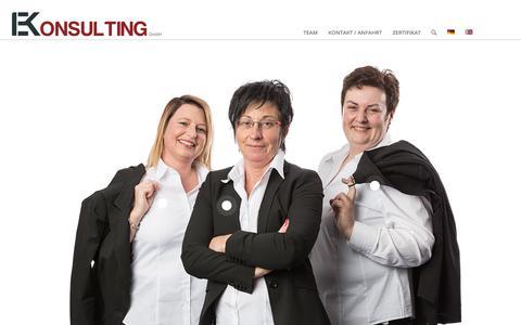 Screenshot of Home Page ekonsulting.at - EKonsulting, Unternehmensberatung, /-organisation & Projektmanagement - captured Sept. 25, 2018