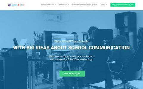 Screenshot of Home Page school-share.co.uk - School Website Design from School Share – School Website Design - captured July 4, 2019